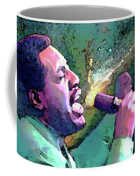 Otis Redding Coffee Mug featuring the painting Otis Redding by John Travisano