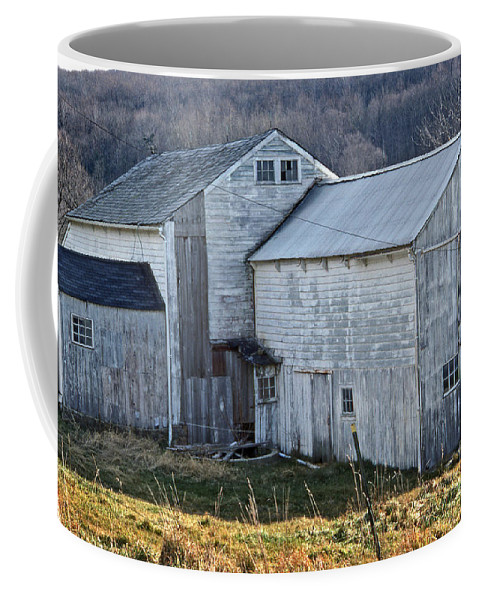 Scenic Tours Coffee Mug featuring the photograph Out Behind The Barn by Skip Willits