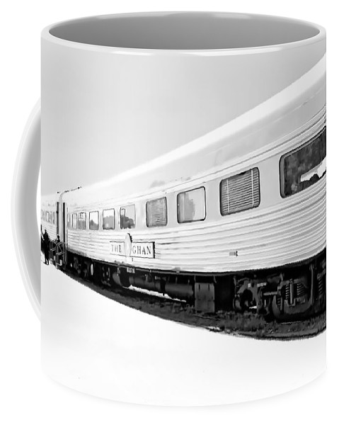Digital Black And White Photo Coffee Mug featuring the digital art Out In The Open Bw by Tim Richards