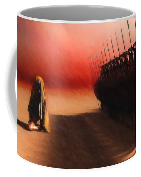 Egypt Coffee Mug featuring the painting Out Of Egypt by Bob Orsillo