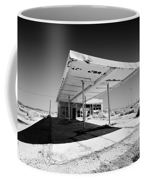 Gas Station. Service Station Coffee Mug featuring the photograph Out Of Gas by Peter Tellone