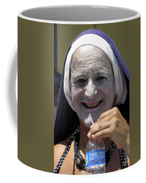 Portrait Coffee Mug featuring the photograph Out Of Habit by Bob Slitzan
