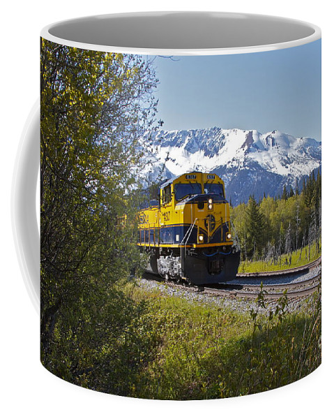 Train Coffee Mug featuring the photograph Out Of Place by Rick Monyahan