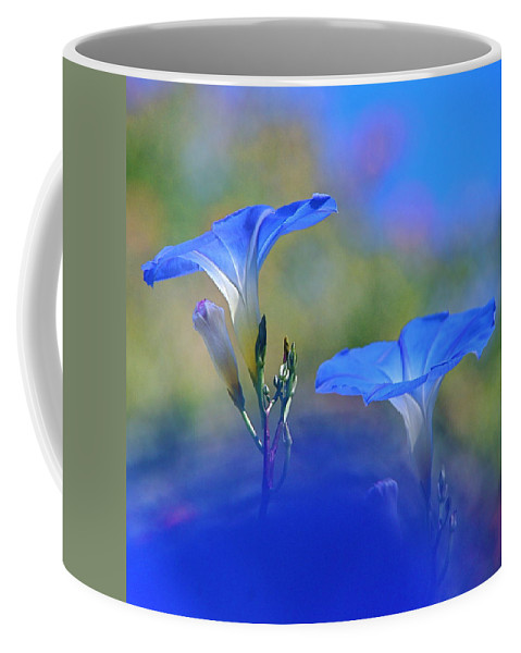 Morning Glories Coffee Mug featuring the photograph Out Of The Blue by Byron Varvarigos