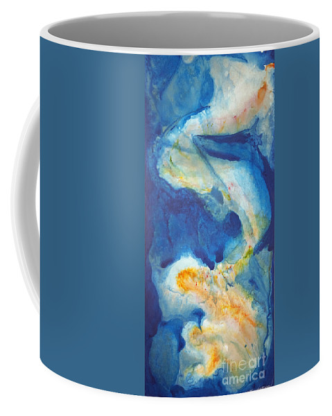 Blue Coffee Mug featuring the painting Out Of The Blue by Todd Karleskein