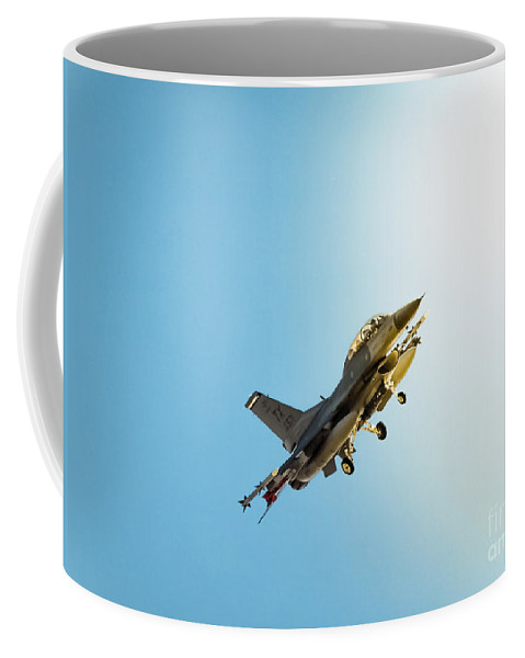 Air Force Coffee Mug featuring the photograph Out Of The Wild Blue by Robert Frederick