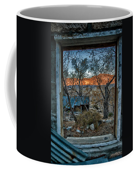 Wood Coffee Mug featuring the photograph Out The Window by Cat Connor