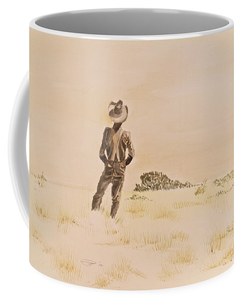 Western Scene Coffee Mug featuring the painting Out There by Michele Myers