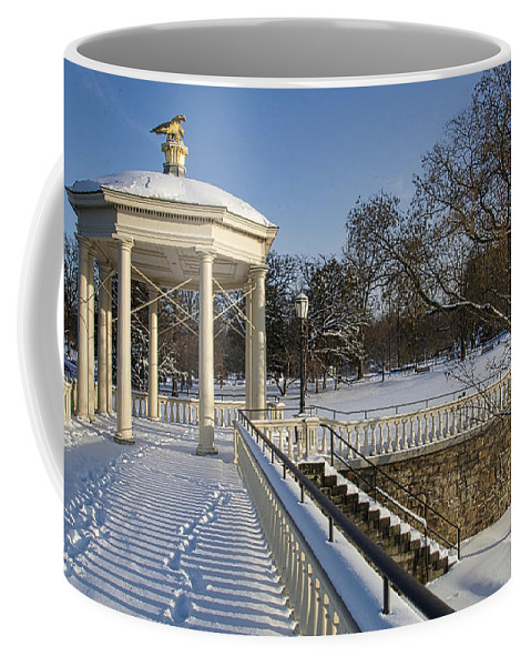 Art Museum Coffee Mug featuring the photograph Out To The Gazebo by Alice Gipson