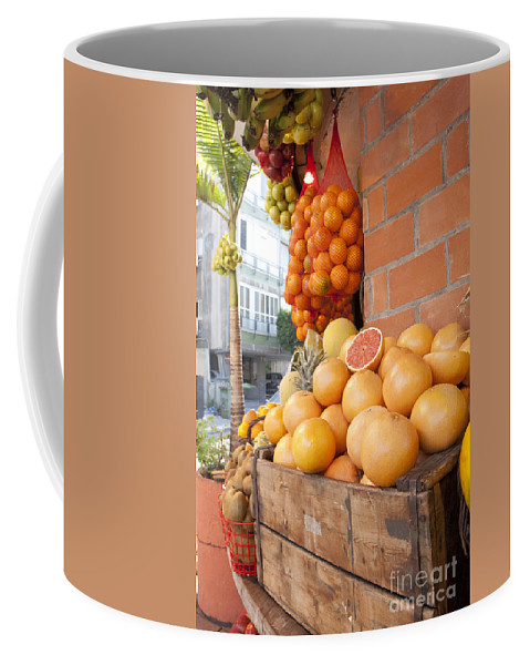Israel Coffee Mug featuring the photograph Outdoor Fruit Juice Stall by Gal Eitan