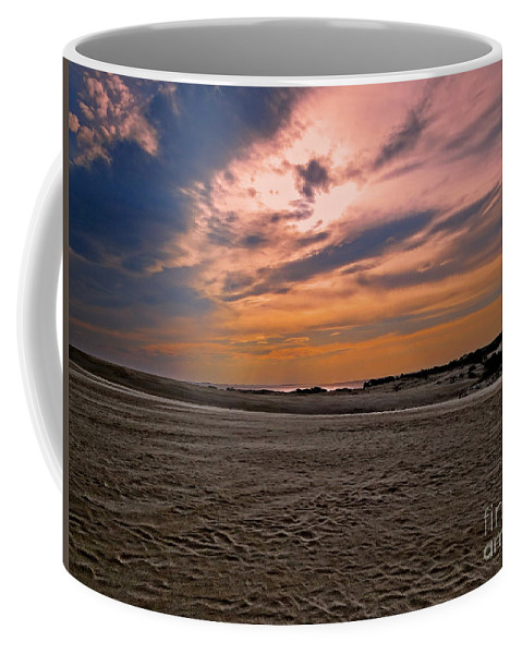 Nature Coffee Mug featuring the photograph Outer Banks Sunset by Dawn Gari