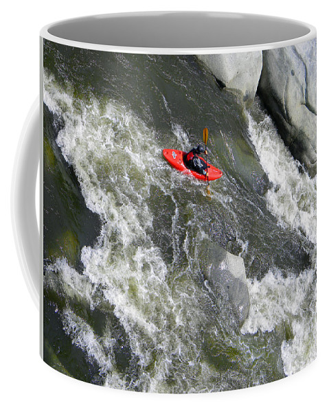 Kayak Coffee Mug featuring the photograph Over The Falls by Frank Wilson