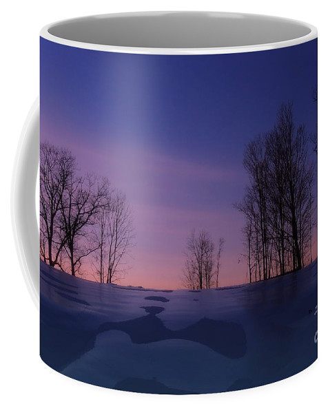 Hill Coffee Mug featuring the photograph Over The Hill by Mim White