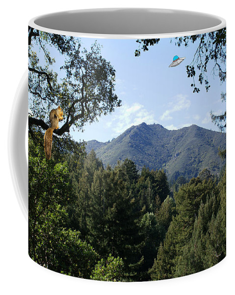 Ufo's Coffee Mug featuring the photograph Over The Mountain by Ben Upham III