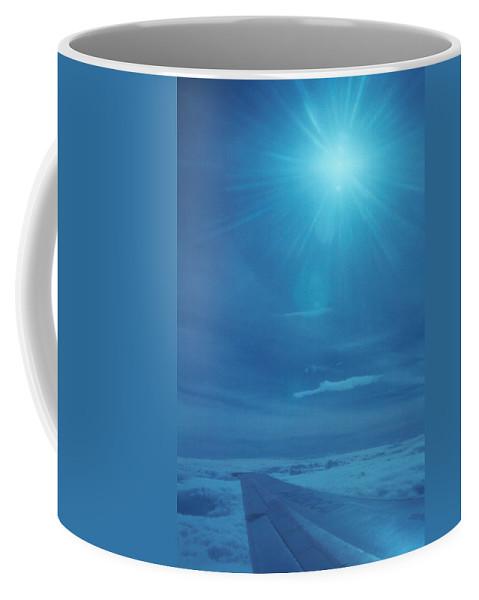 Plane Coffee Mug featuring the photograph Over The Thin Air by David Cardona