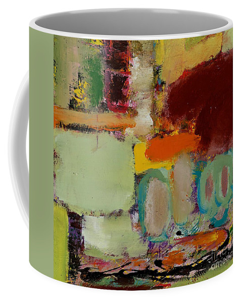 Landscape Coffee Mug featuring the painting Over There by Allan P Friedlander