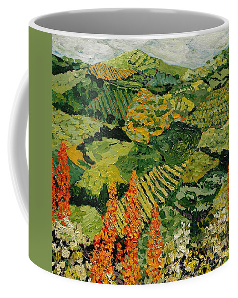 Landscape Coffee Mug featuring the painting Overgrown by Allan P Friedlander
