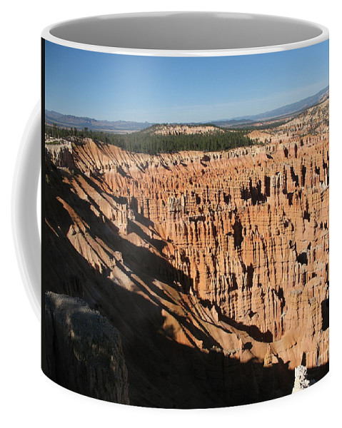 Mountians Coffee Mug featuring the photograph Overview At Bryce Canyon by Christiane Schulze Art And Photography