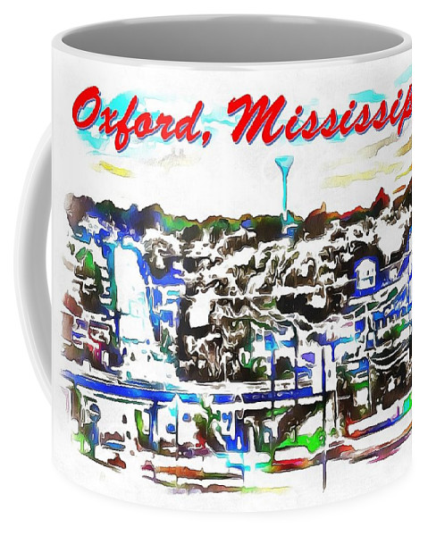 Oxford Mississippi 38655 Coffee Mug featuring the digital art Oxford Mississippi 38655 by Catherine Lott