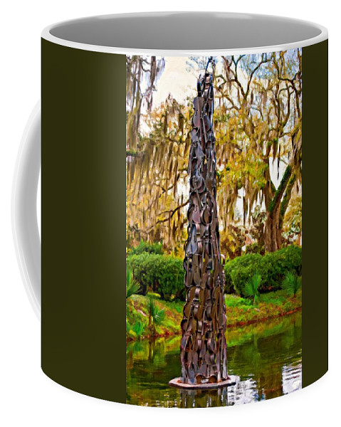 New Orleans Coffee Mug featuring the photograph Pablo Casals' Oblisk Oil by Steve Harrington