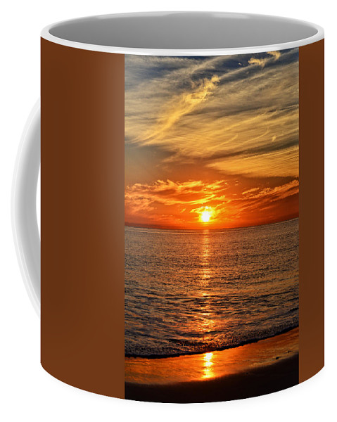 Pacific Coffee Mug featuring the photograph Pacific Ocean Sunset by Lynn Bauer