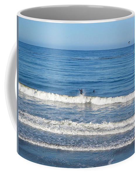 California Coffee Mug featuring the photograph Pacific Surfer by Denise Mazzocco