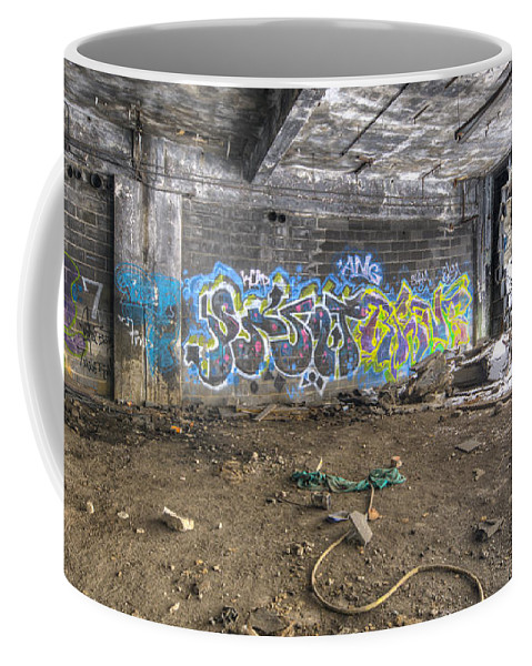 Packard Plant Detroit Michigan Coffee Mug featuring the photograph Packard Plant Detroit Michigan - 8 by Paul Cannon