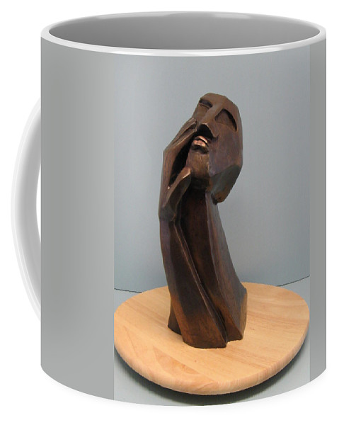 Originals Coffee Mug featuring the sculpture Pain by Nili Tochner