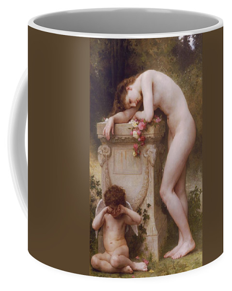 Pain Coffee Mug featuring the painting Pain Of Love by William Adolphe Bouguereau