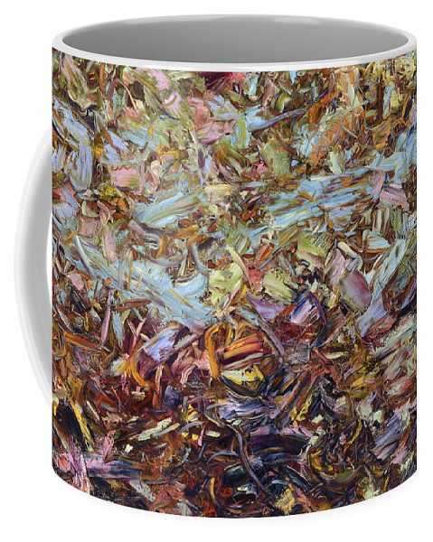 Abstract Coffee Mug featuring the painting Paint Number 51 by James W Johnson
