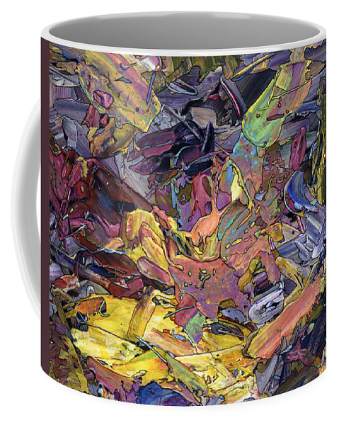 Abstract Coffee Mug featuring the painting Paint Number 60 by James W Johnson