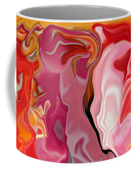 Face Art Coffee Mug featuring the digital art Painted Face's by Linda Sannuti