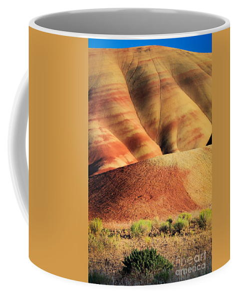 America Coffee Mug featuring the photograph Painted Hills And Grassland by Inge Johnsson