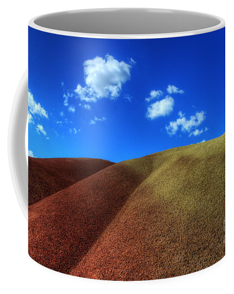 John Day Coffee Mug featuring the photograph Painted Hills Blue Sky 1 by Bob Christopher
