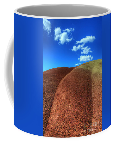 John Day Coffee Mug featuring the photograph Painted Hills Blue Sky 2 by Bob Christopher