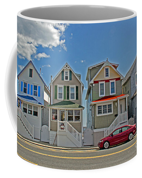 Painted Ladies Coffee Mug featuring the photograph Painted Ladies Of Somers Point by Tom Gari Gallery-Three-Photography
