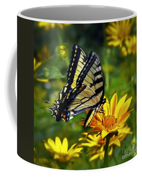 Diane Berry Coffee Mug featuring the painting Painted Lady by Diane E Berry