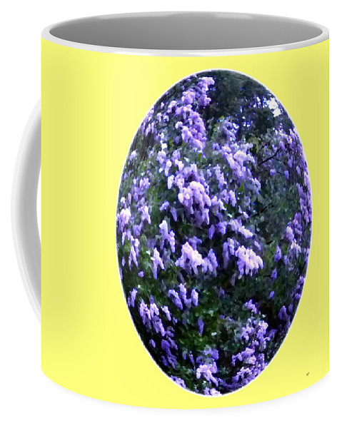 Painted Lilacs Coffee Mug featuring the digital art Painted Lilacs by Will Borden