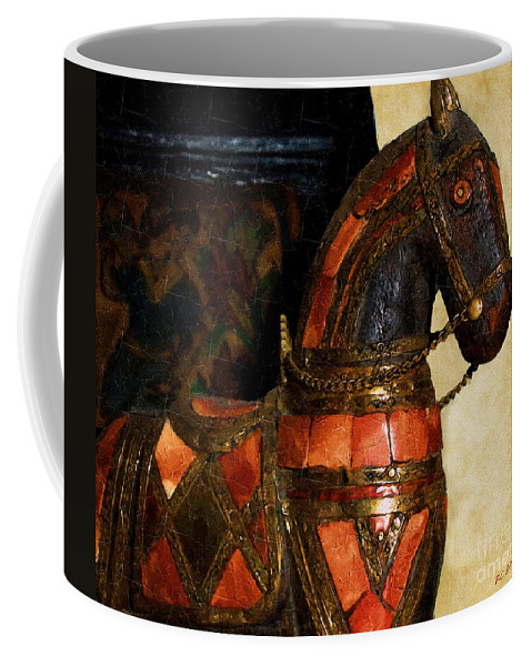 Animal Coffee Mug featuring the painting Painted Pony by RC DeWinter