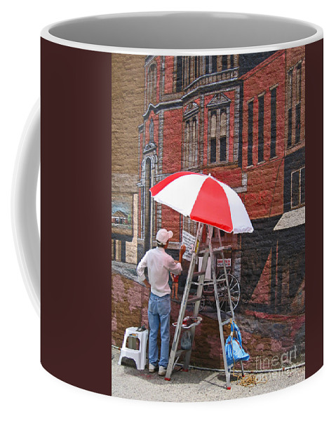 Artist Coffee Mug featuring the photograph Painting The Past by Ann Horn
