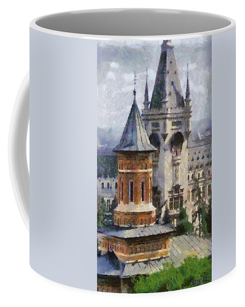 Chapel Coffee Mug featuring the painting Palace Of Culture by Jeffrey Kolker