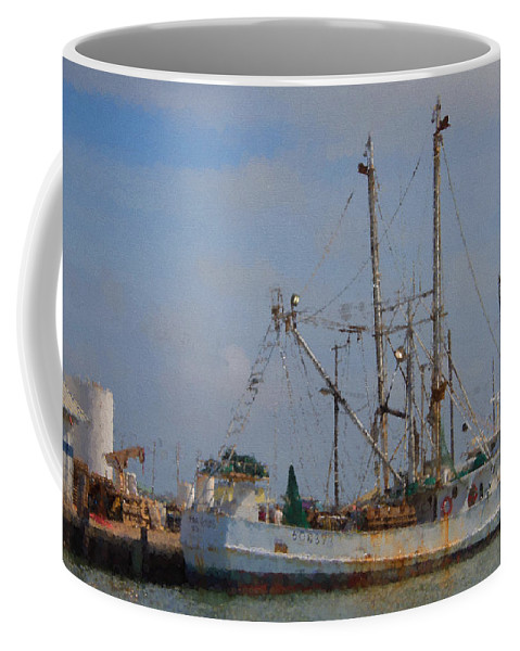 Palacios Coffee Mug featuring the photograph Palacios Texas Rhonda Kathleen In Port by JG Thompson