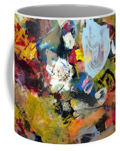 Rustic Coffee Mug featuring the painting Palette Abstract by Michelle Calkins