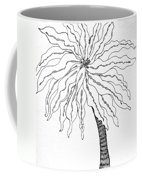 Palm Coffee Mug featuring the drawing Palm by Anita Lewis