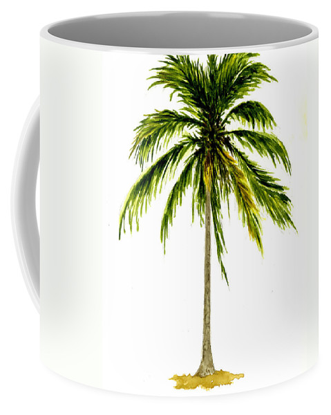 Palm Tree Coffee Mug featuring the painting Palm Tree Number 2 by Michael Vigliotti