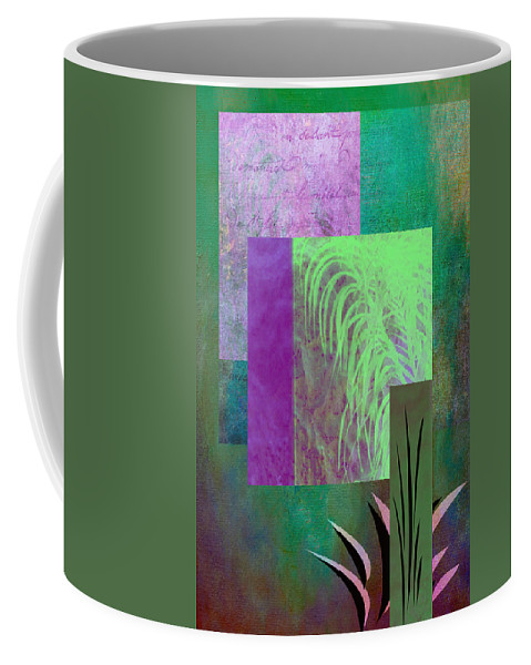 Abstract Coffee Mug featuring the photograph Palmier by Linda Dunn