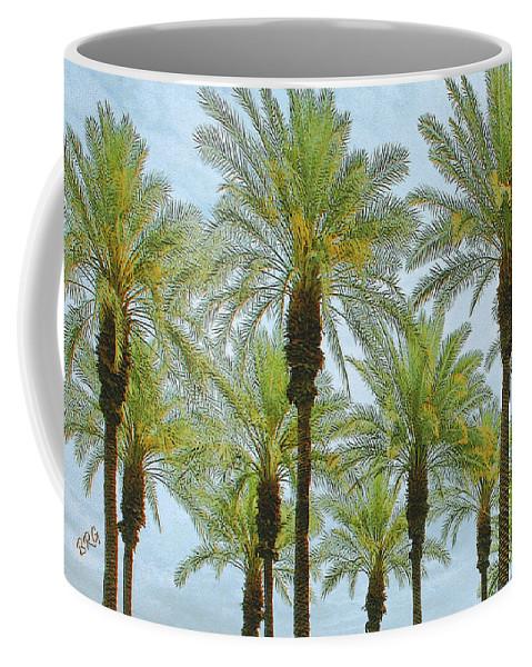 Palm Treetop Coffee Mug featuring the photograph Palms by Ben and Raisa Gertsberg