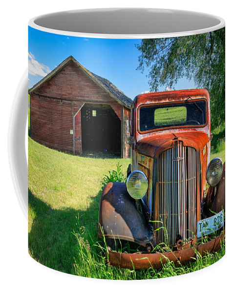 America Coffee Mug featuring the photograph Palouse Dodge by Inge Johnsson