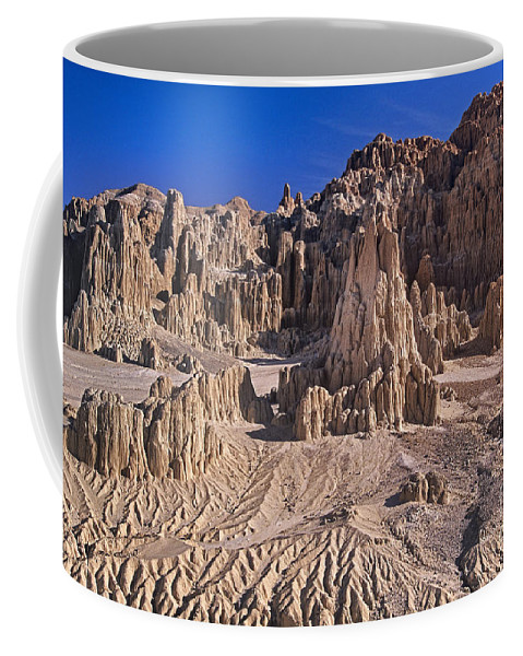 Nevada Landscape Coffee Mug featuring the photograph Panaca Formations In Cathedral Gorge State Park Nevada by Dave Welling