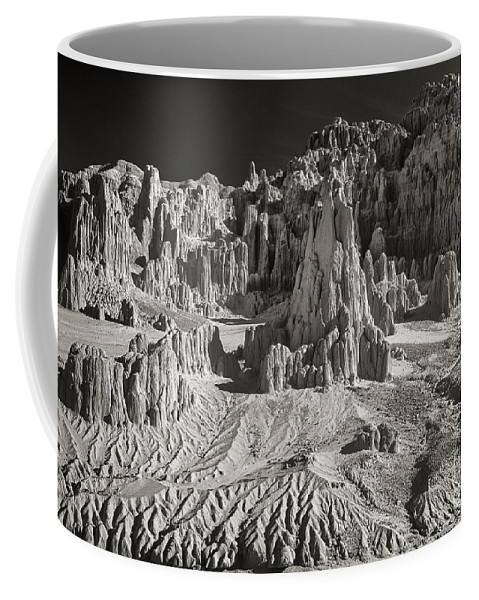 North America Coffee Mug featuring the photograph Panaca Sandstone Formations In Black And White Nevada Landscape by Dave Welling